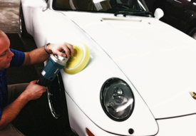 Polishing Car Paint